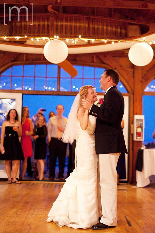 a photo of the first dance at a wedding at buffalo canoe club fort erie