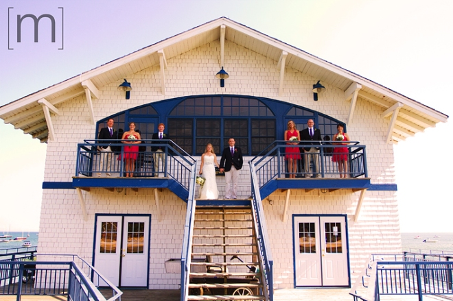 a photo of the wedding party at a wedding at buffalo canoe club fort erie