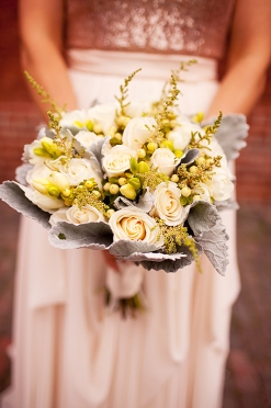 a photo of a bride's bouquet in archeo at distillery district toronto